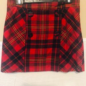L.A.M.B plaid skirt